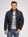 Куртка стеганая с воротником-стойкой oodji #SECTION_NAME# (синий), 1B111005M/48961N/7900N - вид 2