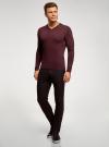 Пуловер базовый с V-образным вырезом oodji #SECTION_NAME# (красный), 4B212007M-1/34390N/4900M - вид 6