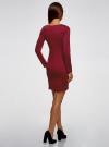 Платье базовое облегающего силуэта oodji #SECTION_NAME# (красный), 14011038B/38261/4903N - вид 3