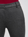 Брюки трикотажные облегающего силуэта oodji #SECTION_NAME# (серый), 18601009/48596/2923J - вид 4
