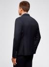 Пиджак приталенного силуэта на пуговице oodji #SECTION_NAME# (синий), 2L410201M/47076N/7900O - вид 3