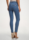 Джинсы skinny с высокой посадкой oodji для женщины (синий), 12103149-2B/46734/7500W