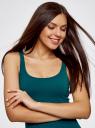 Платье-майка трикотажное oodji для женщины (зеленый), 14015007-2B/47420/7400N