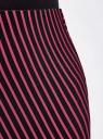 Юбка трикотажная с асимметричным низом oodji для женщины (розовый), 14101081/45500/2947S