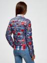 Куртка стеганая с принтом oodji #SECTION_NAME# (синий), 10203050-1M/42257/7545F - вид 3