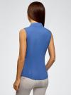 Рубашка базовая без рукавов oodji #SECTION_NAME# (синий), 11405063-4B/45510/7500N - вид 3