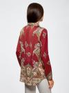 Блузка из струящейся ткани с принтом oodji #SECTION_NAME# (красный), 21411144-3/35542/4939E - вид 3