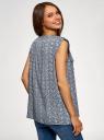 Блузка с короткими рукавами и нагрудными карманами oodji #SECTION_NAME# (синий), 21412132-2B/24681/7912E - вид 3