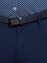 Брюки-чиносы из хлопка oodji для мужчины (синий), 2L150153M/48639N/7975O