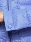 Куртка стеганая с круглым вырезом oodji для женщины (синий), 10203050-2B/47020/7502N - вид 5