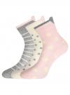 Комплект из трех пар хлопковых носков oodji для женщины (разноцветный), 57102802-3T3/47613/26 - вид 2
