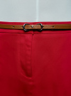 Юбка короткая хлопковая с ремнем oodji #SECTION_NAME# (красный), 11600397B/14522/4500N - вид 4