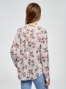 Блузка вискозная А-образного силуэта oodji #SECTION_NAME# (белый), 21411113B/26346/3041F - вид 3
