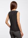 Топ с воланами и вырезом-капелькой на спине oodji для женщины (черный), 11401265/47190/2900N - вид 3