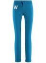 Брюки трикотажные спортивные oodji для женщины (синий), 16701010-3/46980/7501N