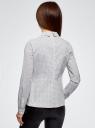 Блузка хлопковая с баской oodji #SECTION_NAME# (белый), 13K00001B/26357/1029G - вид 3