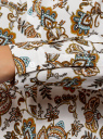 Блузка вискозная А-образного силуэта oodji для женщины (белый), 21411113B/42540/1231E