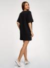 Платье в рубчик свободного кроя oodji #SECTION_NAME# (черный), 14008017/45987/2900N - вид 3