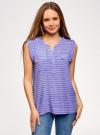Блузка вискозная с нагрудными карманами oodji #SECTION_NAME# (фиолетовый), 21412132-5B/24681/8012S - вид 2
