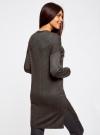 Кардиган без застежки с карманами oodji для женщины (серый), 63212589/45904/2500M - вид 3