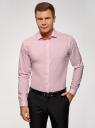 Рубашка базовая приталенного силуэта oodji для мужчины (розовый), 3B110012M/23286N/4100N
