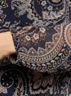 Блузка принтованная свободного силуэта oodji для женщины (синий), 21400393/35202/7933E - вид 5