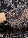 Блузка принтованная свободного силуэта oodji для женщины (синий), 21400393/35202/7933E