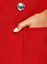 Жакет с накладными карманами и рукавом 3/4 oodji #SECTION_NAME# (красный), 21203109/46955/4500N - вид 5