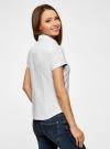 Рубашка базовая с коротким рукавом oodji #SECTION_NAME# (белый), 11401238-1/45151/1000N - вид 3