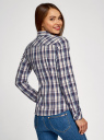 Рубашка в клетку хлопковая oodji для женщины (синий), 11405122-1/33564/7973C
