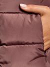 Пальто стеганое с объемным воротником oodji для женщины (красный), 10204049-1B/24771/3102N - вид 5