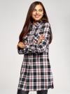 Платье-рубашка с карманами oodji #SECTION_NAME# (разноцветный), 11911004-2/45252/2912C - вид 2