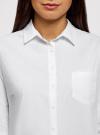 Рубашка хлопковая с нагрудным карманом oodji #SECTION_NAME# (белый), 13K03014/18193/1000B - вид 4