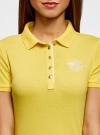 Поло с металлическими пуговицами и вышивкой на груди oodji #SECTION_NAME# (желтый), 29311001/39813N/5100N - вид 4