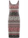 Платье-майка трикотажное oodji для женщины (разноцветный), 14015007-3B/37809/4129E