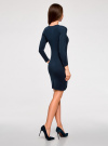 Платье базовое с рукавом 3/4 oodji #SECTION_NAME# (синий), 63912222B/46244/7900N - вид 3