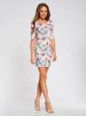 Платье трикотажное облегающее oodji #SECTION_NAME# (розовый), 14001121-3B/16300/4073F - вид 6