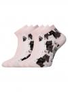 Комплект из шести пар хлопковых носков oodji для женщины (розовый), 57102418-5T6/48418/11 - вид 2
