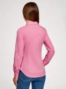 Рубашка базовая с нагрудными карманами oodji #SECTION_NAME# (розовый), 11403222B/42468/4100N - вид 3