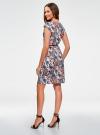 Платье трикотажное с ремнем oodji #SECTION_NAME# (разноцветный), 24008033-2/16300/4512F - вид 3