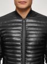 Куртка стеганая из искусственной кожи oodji #SECTION_NAME# (черный), 1L511053M-1/47397N/2900N - вид 4