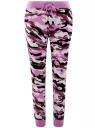 Брюки трикотажные на завязках oodji для женщины (розовый), 16701042-2B/46919/294AO