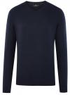 Пуловер базовый с V-образным вырезом oodji #SECTION_NAME# (синий), 4B212007M/39796N/7900N