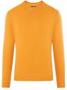 Свитшот базовый хлопковый oodji #SECTION_NAME# (оранжевый), 5B113002M/46738N/5201N