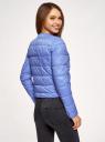 Куртка стеганая с круглым вырезом oodji #SECTION_NAME# (синий), 10203050-2B/47020/7502N - вид 3