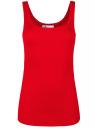 Майка базовая oodji для женщины (красный), 14315001B/46174/4500N