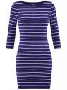 Платье трикотажное базовое oodji #SECTION_NAME# (синий), 14001071-2B/46148/7975S