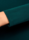 Платье трикотажное облегающего силуэта oodji для женщины (зеленый), 14001183B/46148/6E01N - вид 5