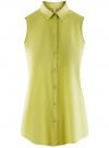 Топ вискозный с нагрудным карманом oodji для женщины (зеленый), 11411108B/26346/6A00N