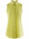 Топ вискозный с нагрудным карманом oodji #SECTION_NAME# (зеленый), 11411108B/26346/6A00N